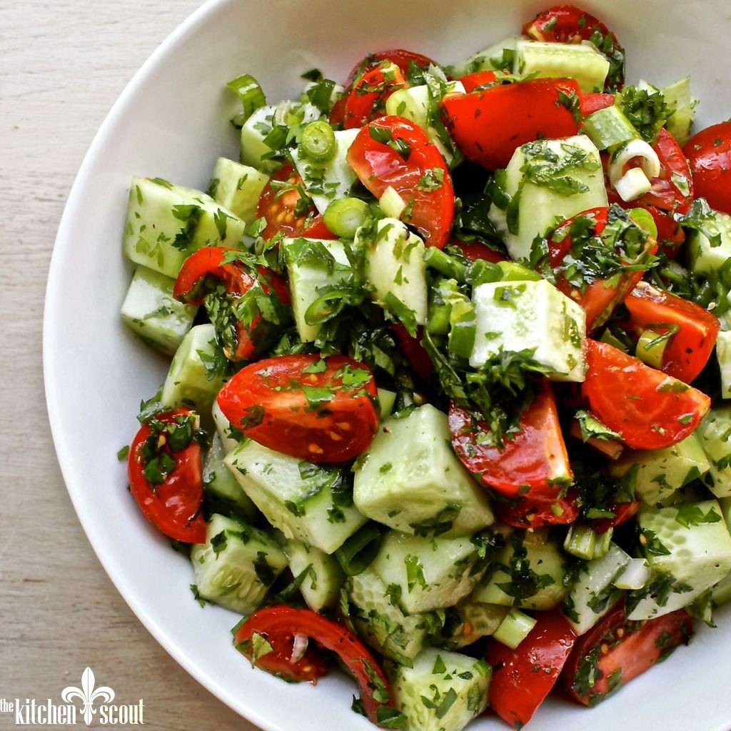 Armenian cucumber tomato salad the kitchen scout for Armenian cuisine