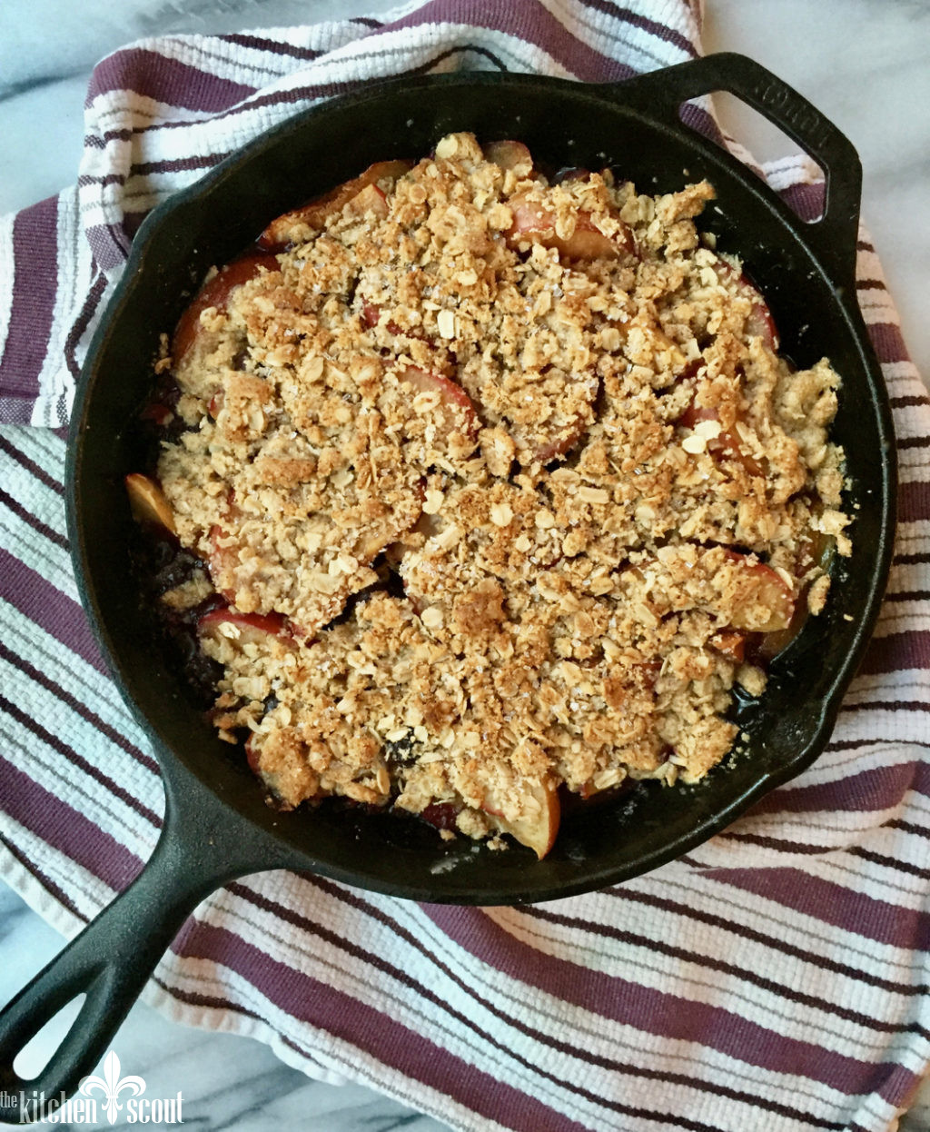 Plum Blueberry Crisp